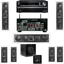 Klipsch KL-6504-THX(3 Speaker) In-Wall 7.1-SW-310 Onkyo TX-NR838 7.2 Channel Network- White