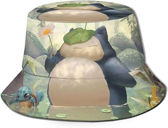 Anime Totoro and Snorlax Fisherman