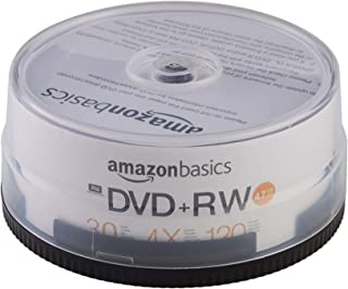 AmazonBasics 4.7GB 4X DVD+RW - 30-Pack (Renewed)