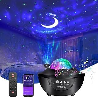 پروژکتور Galaxy Star ، پروژکتور نور شب با 2 بلندگوی بلوتوث تایمر کنترل از راه دور 3 در 1 Aurora Star Moon Galaxy Projector Light 3 سرعت و 3 سطح روشنایی برای اتاق خواب ، بزرگسالان ، مهمانی