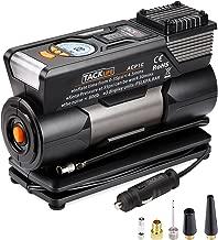 TACKLIFE Tire Inflator ACP1C, DC 12V Digital Air Compressor Pump with Precision Gauge, 4 Nozzle Adaptors and Extra Fuse, Low Noise