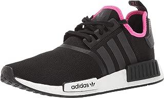 Men's NMD_R1 Running Shoe, Black/Black/Shock Pink, 14 M US