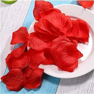 Petalos de Rosa Para Boda, 2000 Piezas Petalos de Flores en Seda Artificiales Hermosos para Bodas Mesa Decoración Banquete Confeti Día de San Valentín Romántica (Rojo)