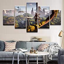 Artwap 5 Piece Painting The Picture for Home Decoration Artwork for Wall Decor Horizon Zero Dawn (Size2)
