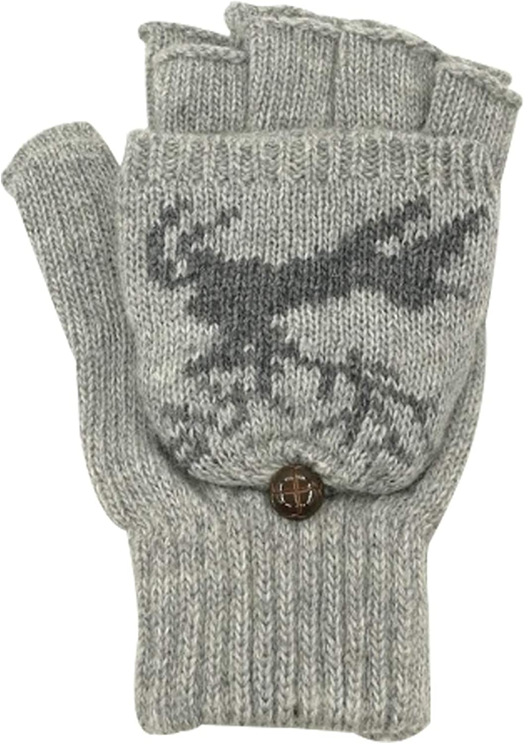 Jueshanzj Women's Wool Knitted Gloves with Mitten Cover