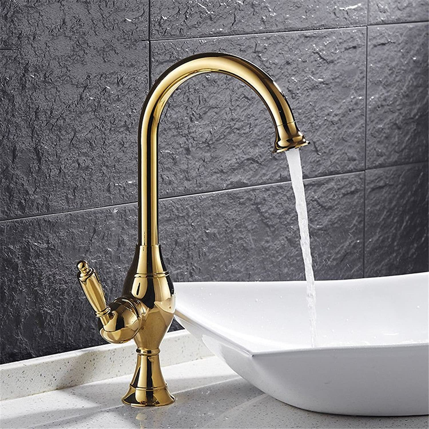 Gyps Faucet Basin Mixer Tap Waterfall Faucet Antique Bathroom Mixer Bar Mixer Shower Set Tap antique bathroom faucet Hot and cold water kitchen two bathrooms with basin mixer single hole full copper-w