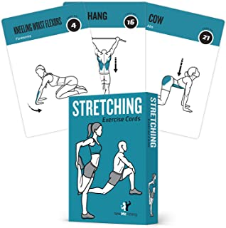 NewMe Fitness Stretching Flexibility Exercise Cards - 50...