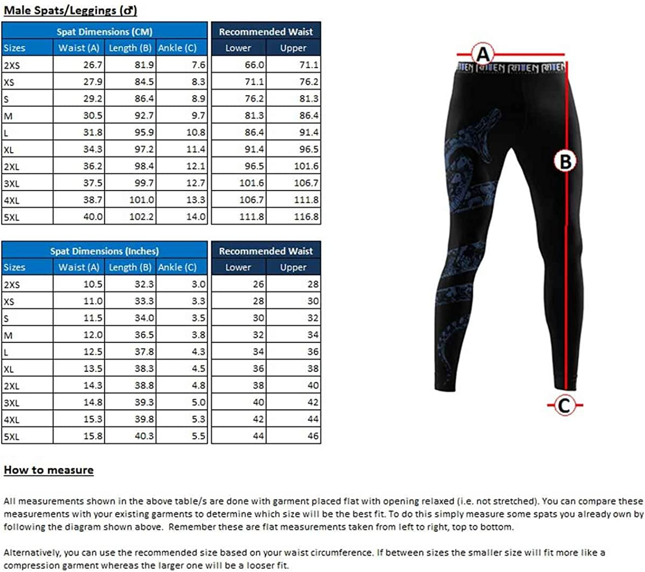 Raven Fightwear Men/'s Constrictor Snake Leggings Spats MMA BJJ Black