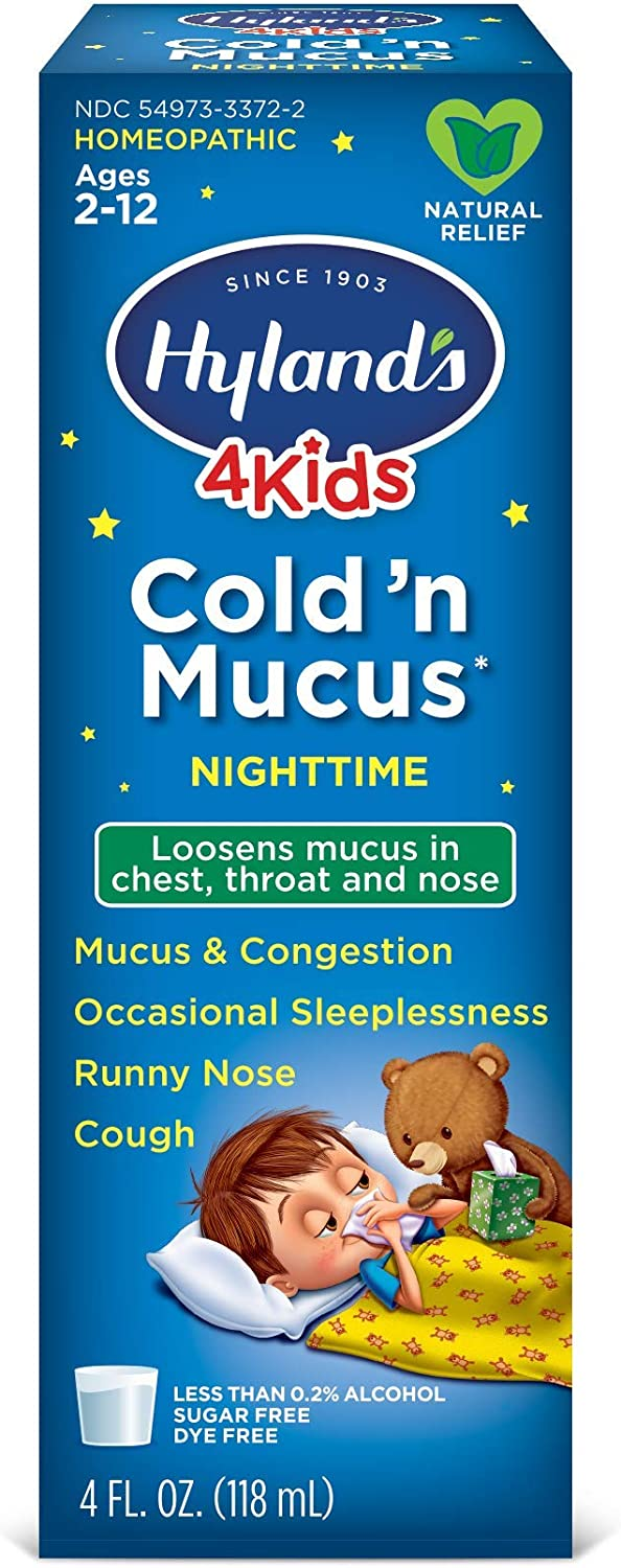 Cold Medicine for Kids Ages 2+ by Hyland's, Nighttime Cold 'n Mu