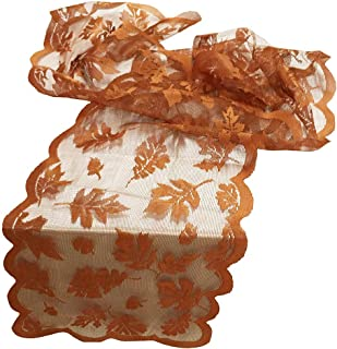 Libobo Maple Leaf Lace Table Runner Perfect for Fall Dinner Parties Restaurant Decor