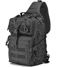 Gowara Gear Tactical Sling Bag Pack Military Rover Shoulder Sling Backpack EDC Molle Assault Range Bags Day Pack w/Tactical USA Flag Patch