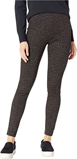 Reese High-Rise Ankle Leggings in Cheetah Patterned Ponte Knit