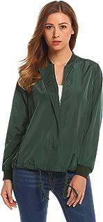 Zeagoo Women's Bomber Jacket Lightweight Casual Quilted Jacket Zip Drawstring Short Coat