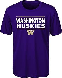 Outerstuff NCAA Washington Huskies Youth Boys Short Sleeve Performance Tee, Youth Boys Medium(10-12), Regal Purple
