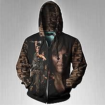 The Walking Dead Daryl Dixon Fans print Sublimation Men Zipper Hoodie sizes: S to 3XL