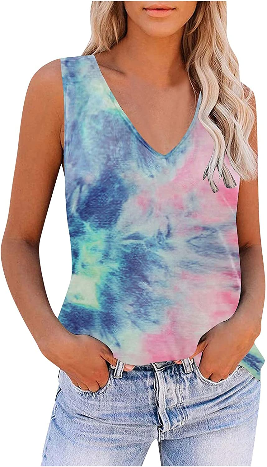 CCOOfhhc Summer Tank Tops for Women Nec Casual Sleeveless V Cute Deluxe Max 46% OFF
