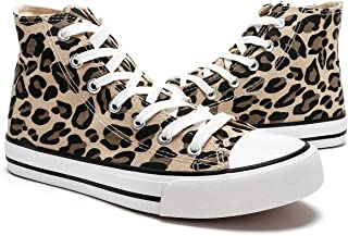 Womens Canvas Sneakers High Top Lace ups Casual Walking...