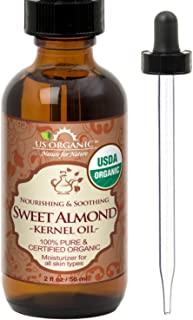 Sponsored Ad - New_US Organic Sweet Almond Kernel Oil, USDA Certified Organic,100% Pure & Natural, Cold Pressed Virgin, Un...