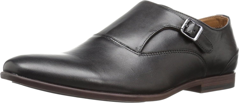 Aldo Men's Sledd Monk Strap Flat, Black Leather, 7 D US
