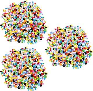 chiwanji 3000 peças de lembrancinhas de festa, pompons, decorações de artesanato, bolas de pompom, cores sortidas, 10 mm