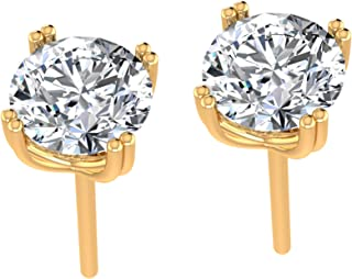 925 Sterling Silver Stud Earrings for Women Made with Crystals from Swarovski ® – 6.23mm – Exclusive Studs