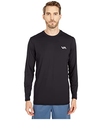 RVCA VA Sport Vent Long Sleeve Top (Black 1) Men