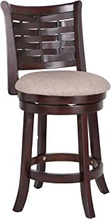 New Classic Furniture New Classic Preston Counter Height Swivel Stool, Cherry, 24-Inch