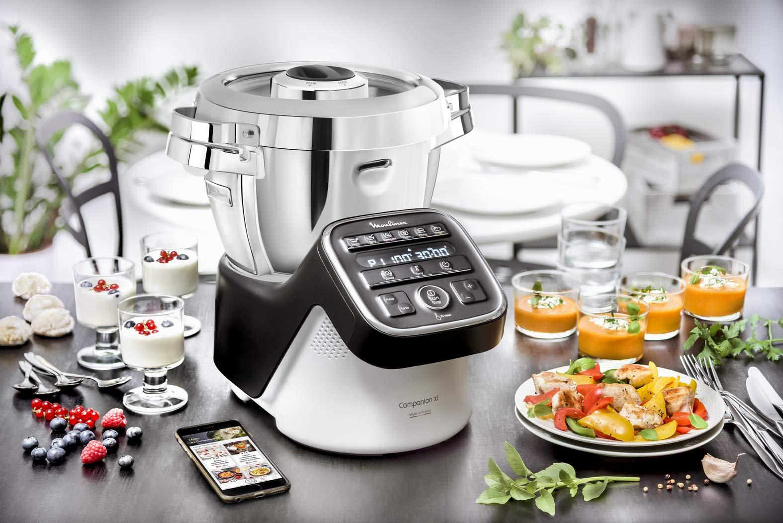 Moulinex Companion XL - Robot de cocina Companion XL, negro gris: Amazon.es: Hogar