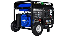 DuroMax 12,000 Max 9,500 Running Watts Dual Fuel Electric Start Portable Generator, XP12000EH