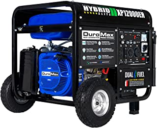 DuroMax XP12000EH Generator-12000 Watt Gas or Propane Powered Home Back Up & RV Ready, 50 State Approved Dual Fuel Electri...