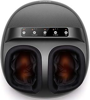 دستگاه ماساژور پای Nekteck با حرارت ، ماساژور پای شیاتسو با طراحی دسته ، 6 حالت با نورد خمیر ، فشرده سازی هوا و عملکرد گرمایی داخلی ، آرامش برای استفاده در منزل یا دفتر ، متناسب با اندازه 12