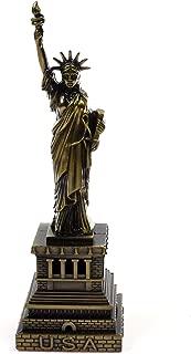 KLOUD City Vintage Antique Color Classic Home Desk Table Decoration, Replica, Figurine, Collectible Arificial World Famous Buildings Sculpture (6 Inch Statue of Liberty (Bronze Color))