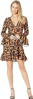 bebe Women's Denise Ruffle Wrap Dress