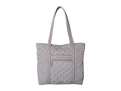 Vera Bradley Iconic Performance Twill Vera Tote (Tranquil Gray) Tote Handbags