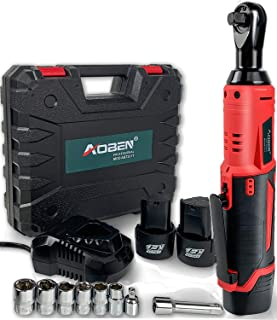 "Cordless Electric Ratchet Wrench Set, AOBEN 3/8"" 12V Power Ratchet Tool Kit with 2.."