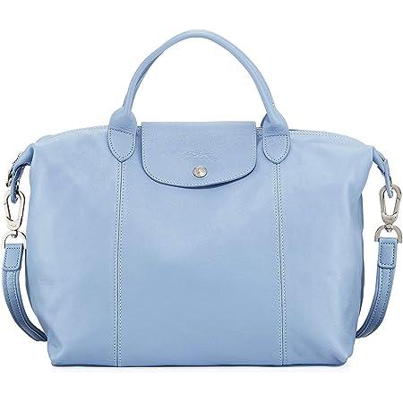 Amazon.com: LongChamp Women's Le Pliage Cuir Light Blue Leather ...