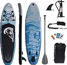Opblaasbare Stand Up Paddle Board, Volwassen Opblaasbare Paddle Board met Paddleboard Accessoires, Drie Vinnen, Verstelbar...