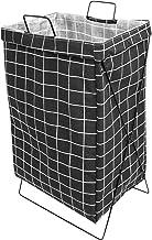 HOUZE - Black Chickened Laundry Bag with Matt Gold Steel Frame