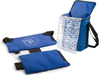 Pro Ice Pitcher's Travel Kit - Shoulder Elbow Cold Therapy Wrap to Treat Rotator Cuff with Ice and Compression, PI800 Cooler Bag, Shoulder Wrap & Ice Packs Included