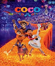 Happy Birthday Backdrops for Photography 5x7 Coco Disney Movie Photography Background for Kids Halloween Party Baby Birthday Tabletop Banner Decor