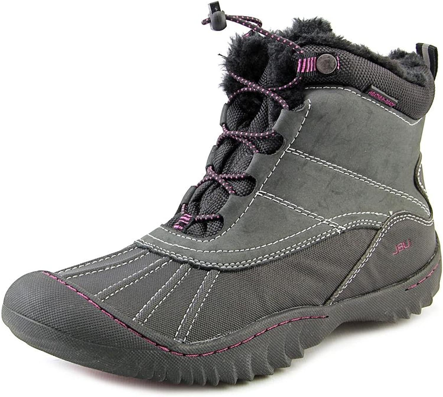 JBU Womens Pullman Round Toe Ankle Cold Weather Boots, Black, Size 6.5