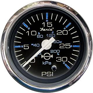Faria 13712 Chesapeake Water Pressure Gauge Kit 30 PSI-Black SS, 2
