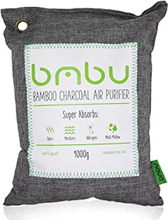 1000g Large Bamboo Charcoal Air Purifier Bag - Deodorizer and Air Freshener - Remove Odor and Control Moisture in Your RV, Camper, SUV, Car, Semi truck, Closet, Mobile Home, Storage - Non fragrant