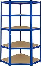 T-Rax Hoek Stellingkast - 90x45x180 cm - Blauw - 100% Boutloos - Draagkracht: 265 kg per plank - opbergrek metaal
