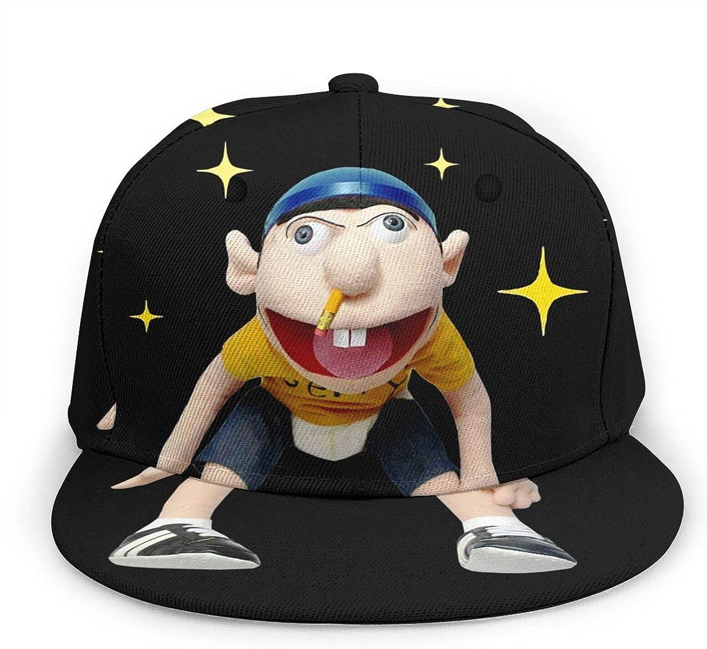 Sml Jeffy Baseball Cap,Adjustable Novelty Trucker Hats,3D Full-Frame Print Hip-Hop Hat for Man&Women