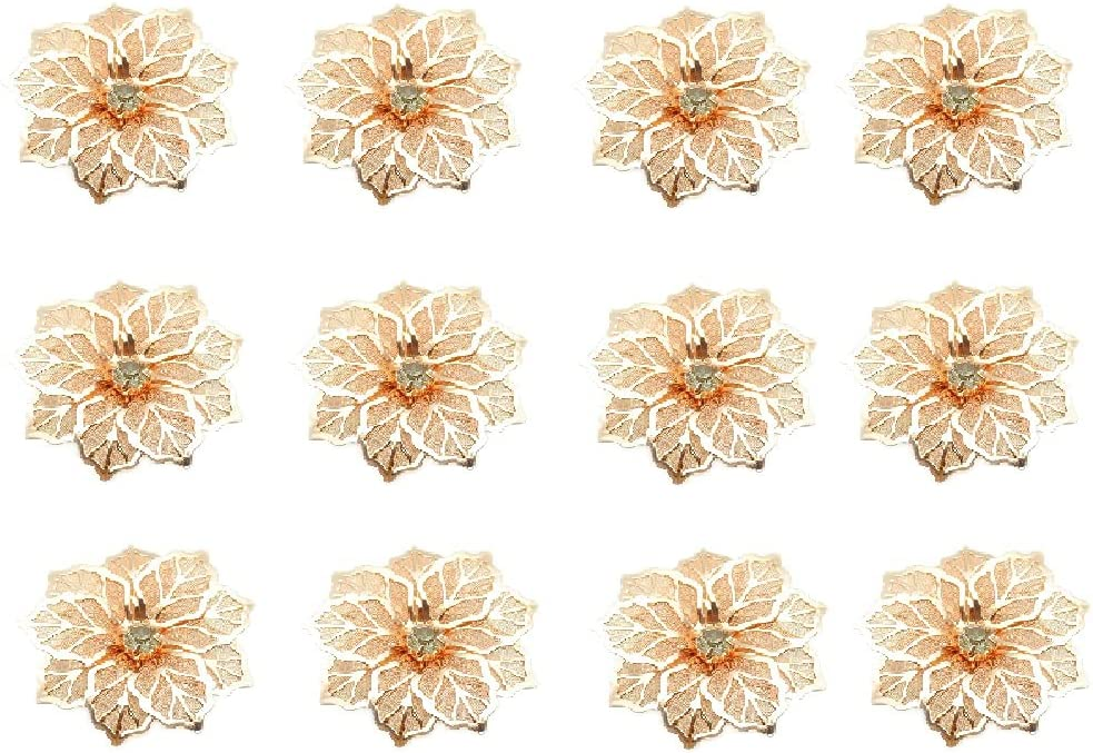 TENKY 12pcs Ranking TOP3 Wedding free Napkin Diamond-Stu Rings Decoration Table
