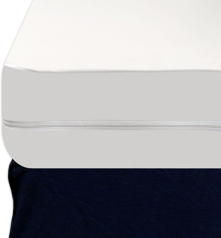 Twin XL 16-Inch Depth Heavy Duty Vinyl Zippered Waterproof Bed Bug Proof Mattress Protector