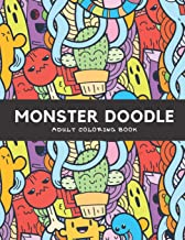 Monster Doodle: Adult Coloring Book, Hours Of Fun And Relaxation
