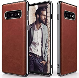 Galaxy S10 Plus Case, LOHASIC Ultra Slim Premium Leather Luxury PU Soft Flexible Defender Anti-Slip Grip Scratch Resistant Protective Cover Cases for Samsung Galaxy S10 Plus (2019) - New Brown