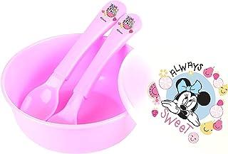 Disney - Baby 3pcs Feeding set, Bowl, Spoon and Fork - Minnie Mouse